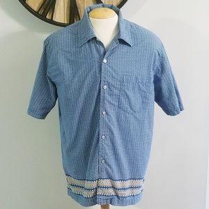 Calvin Klein Jeans Mens Hawaiian Button Up Shirt